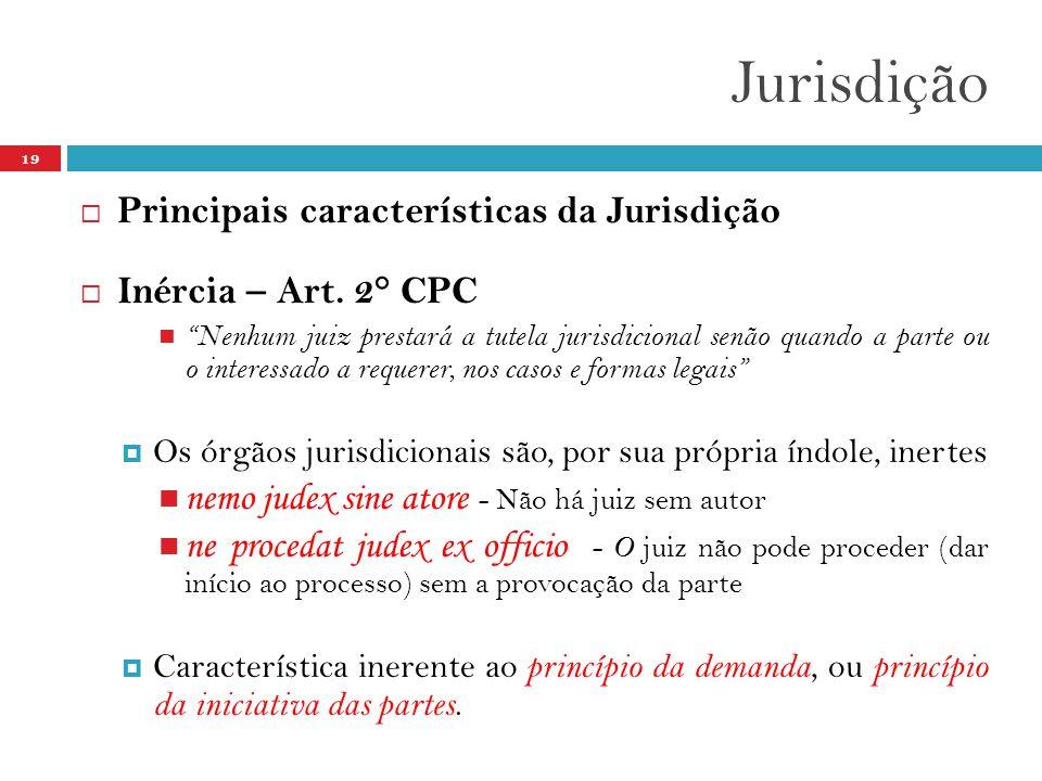 Jurisdição Principais características da Jurisdição