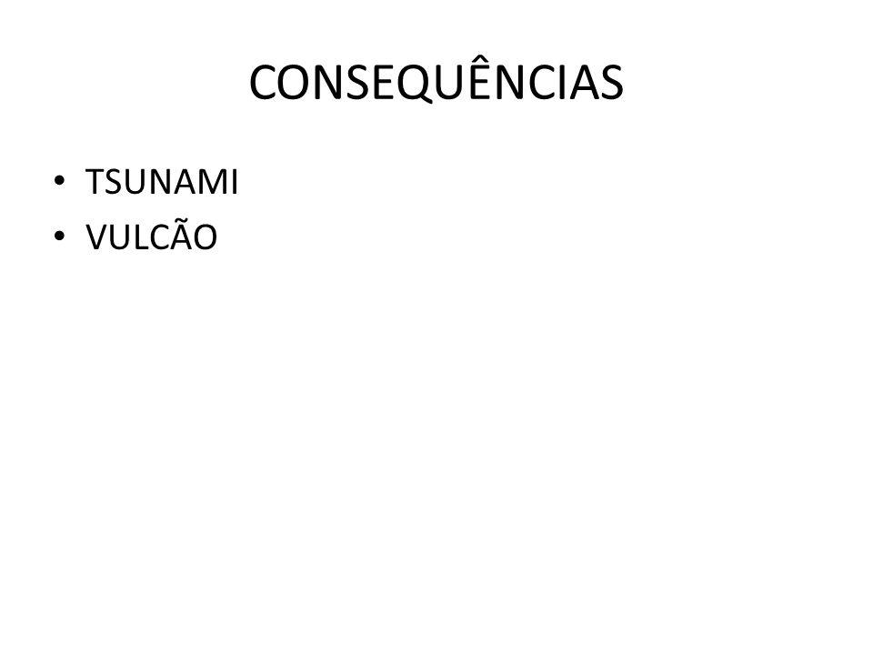 CONSEQUÊNCIAS TSUNAMI VULCÃO