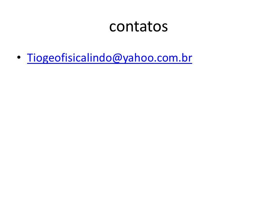 contatos Tiogeofisicalindo@yahoo.com.br