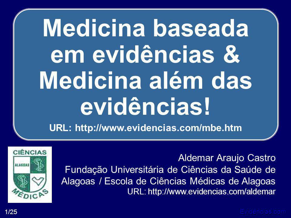 Medicina baseada em evidências & Medicina além das evidências!