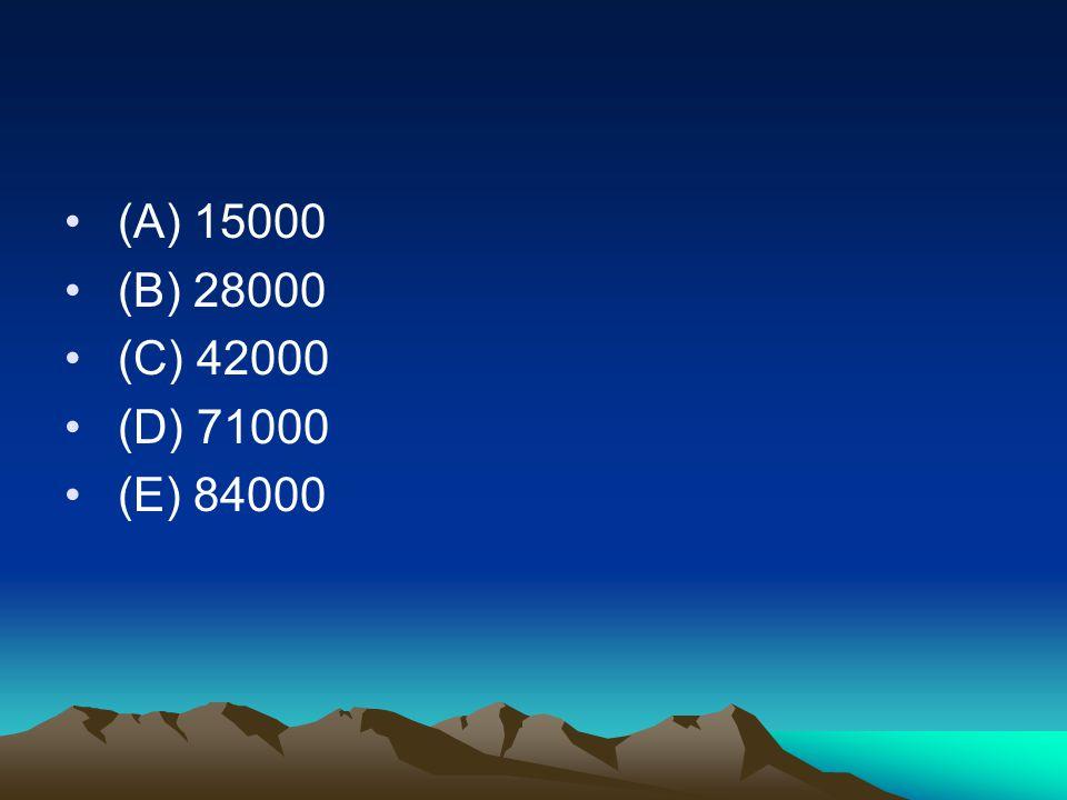 (A) 15000 (B) 28000 (C) 42000 (D) 71000 (E) 84000