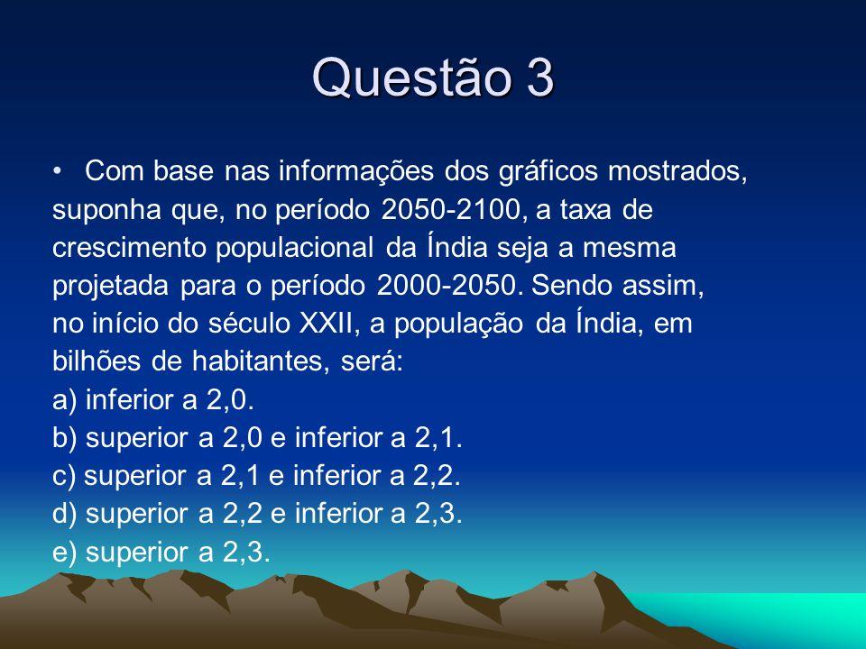 Questão 3 Com base nas informações dos gráficos mostrados,
