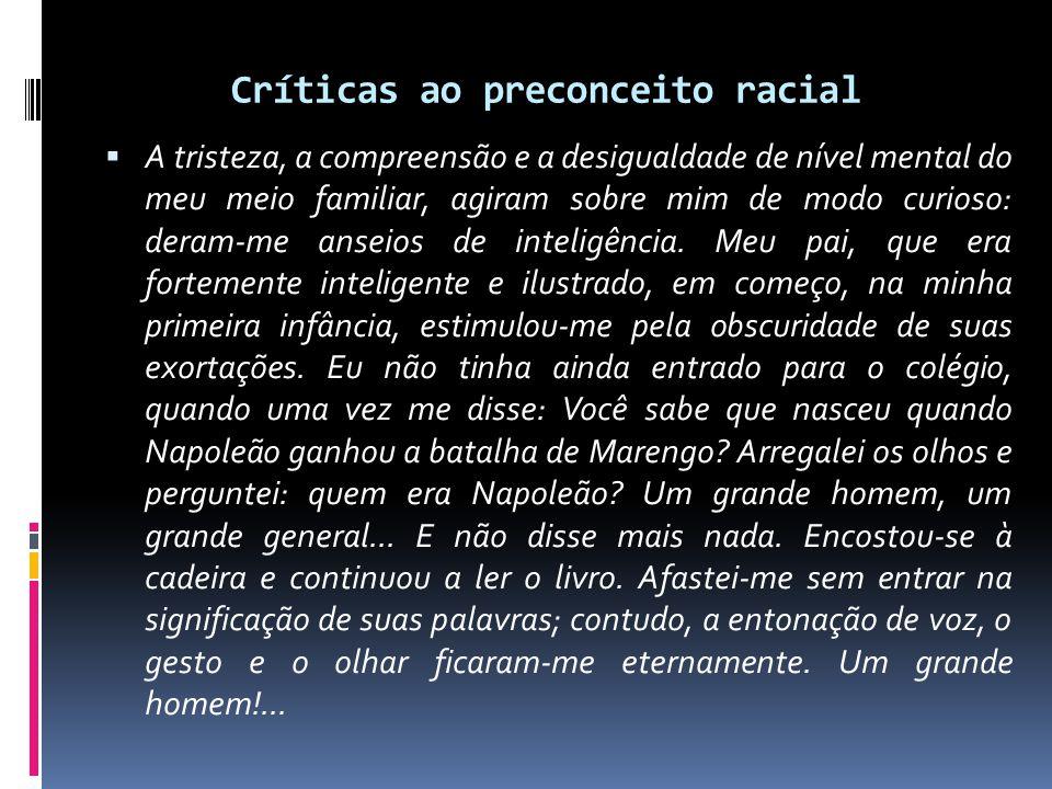 Críticas ao preconceito racial