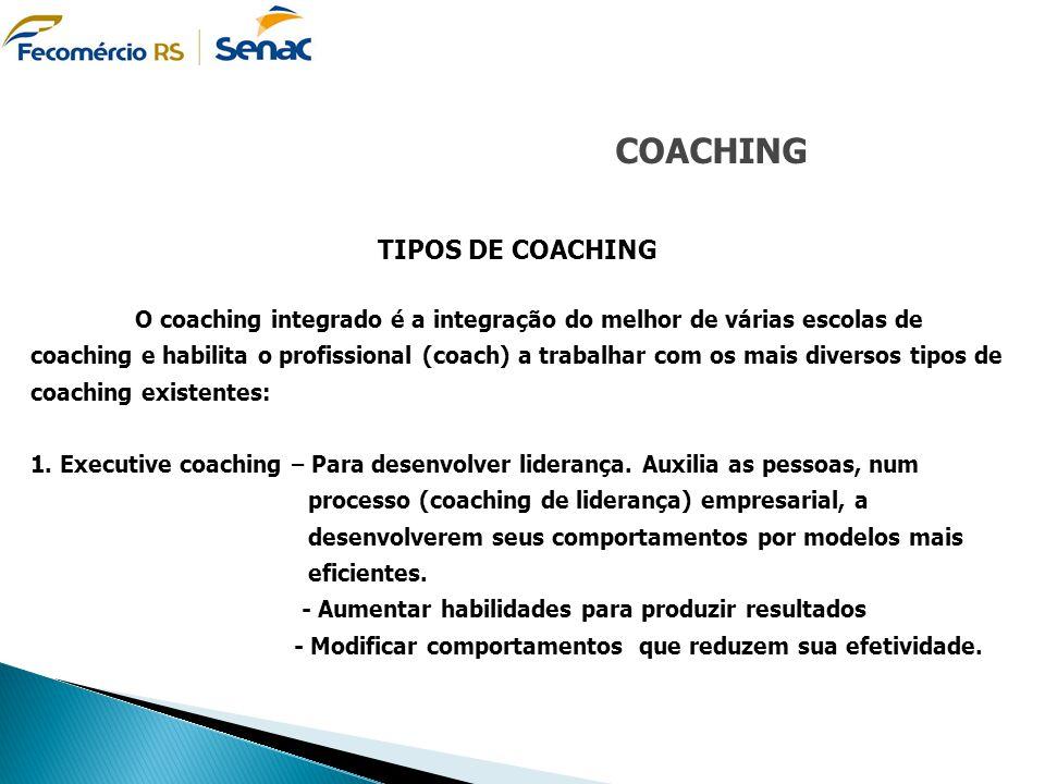 COACHING TIPOS DE COACHING