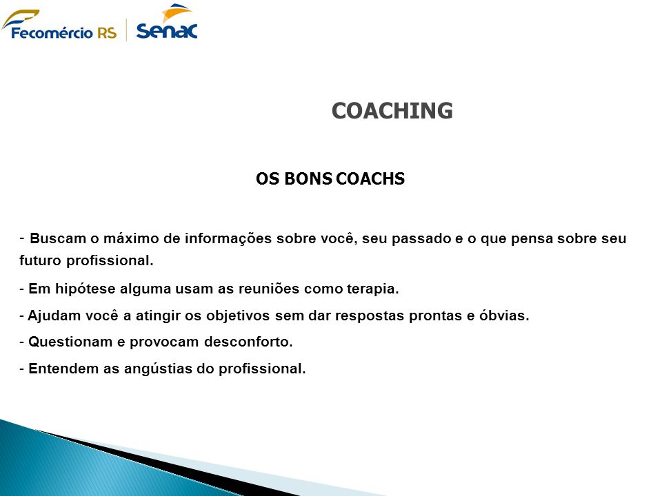 COACHING OS BONS COACHS