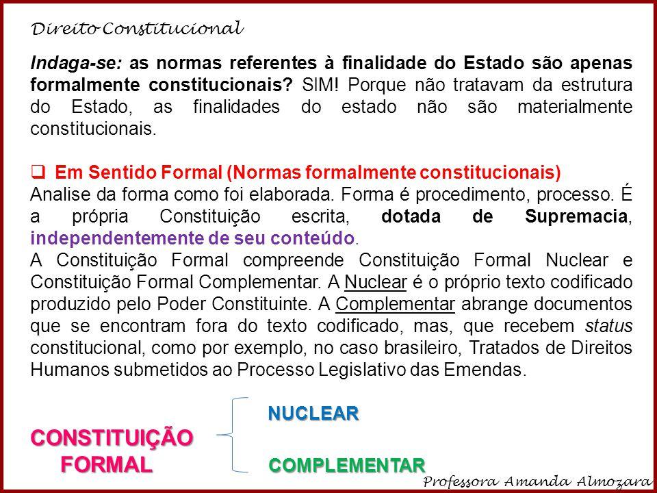 CONSTITUIÇÃO FORMAL COMPLEMENTAR