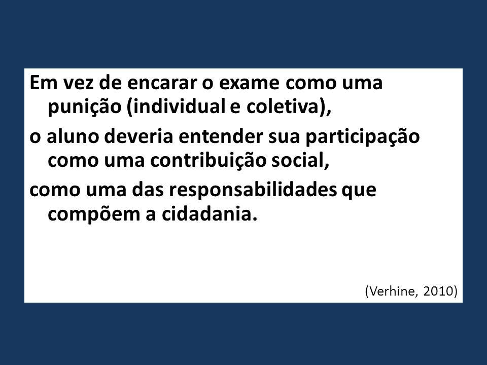 Em vez de encarar o exame como uma punição (individual e coletiva),