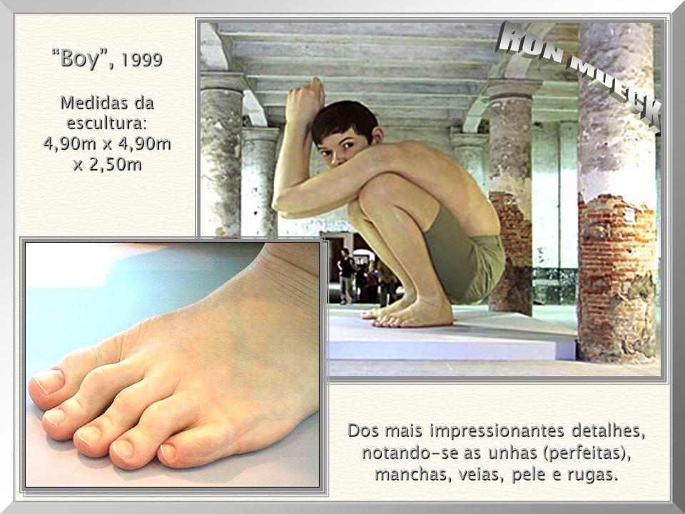 RON MUECK Boy , 1999 Medidas da escultura: 4,90m x 4,90m x 2,50m