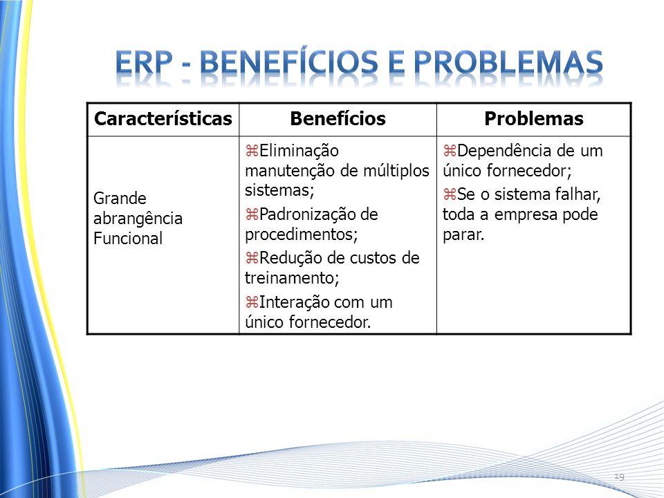 ERP - Benefícios e Problemas