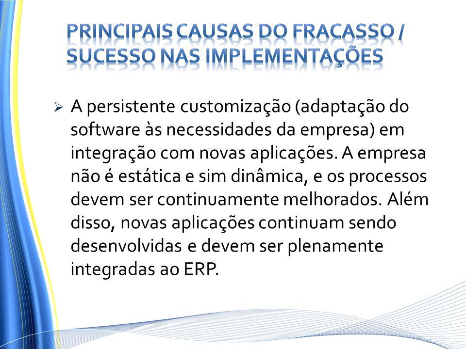 Principais Causas do Fracasso / Sucesso nas Implementações