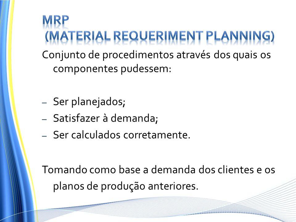 MRP (Material Requeriment Planning)