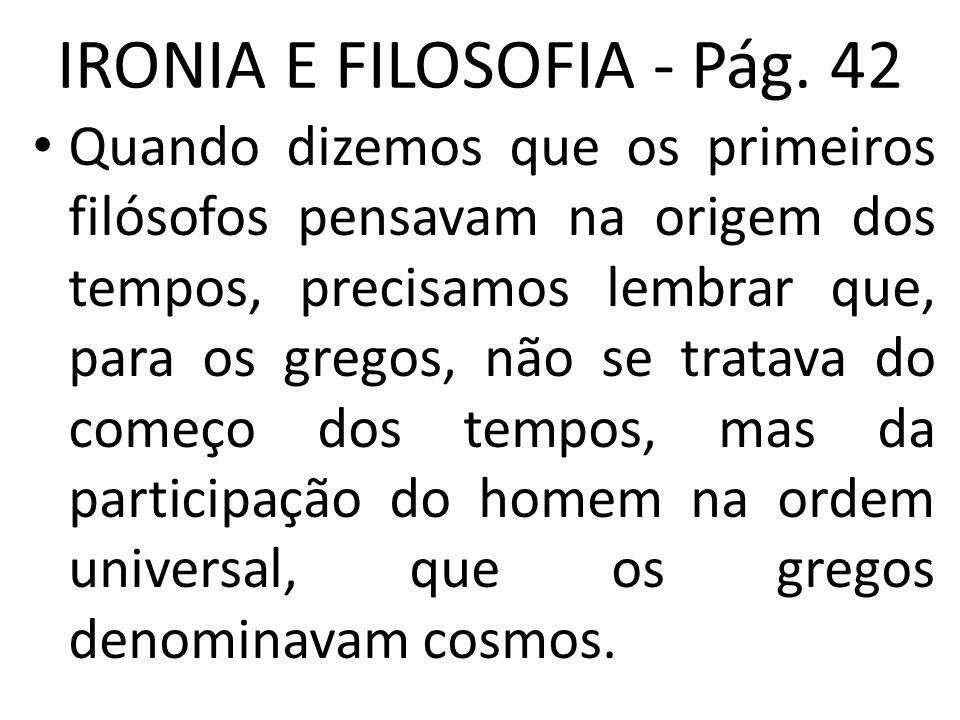 IRONIA E FILOSOFIA - Pág. 42