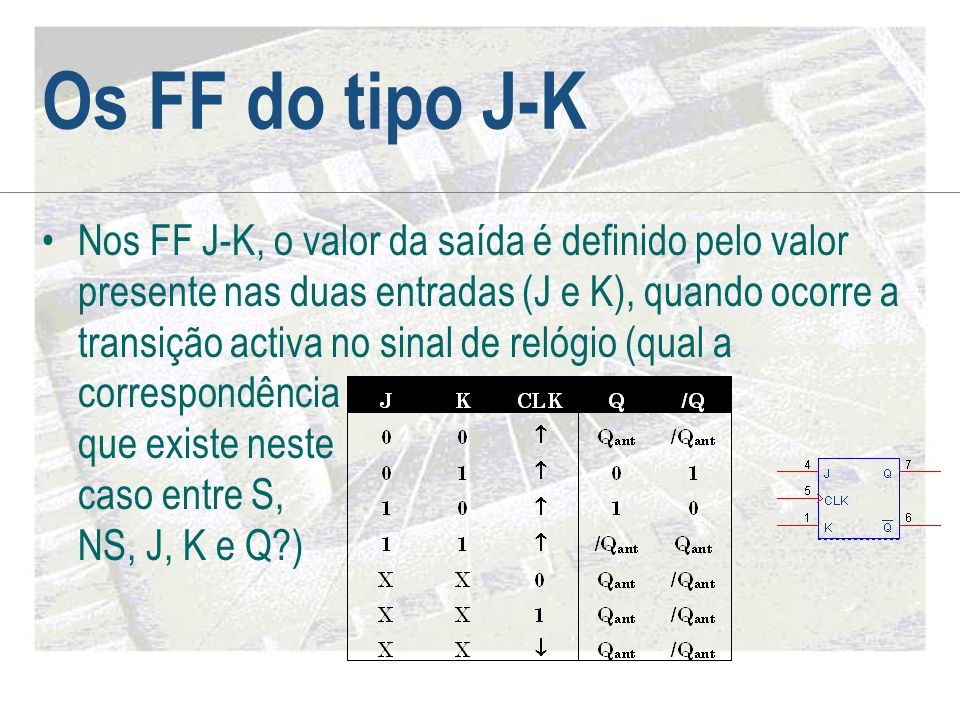 Os FF do tipo J-K