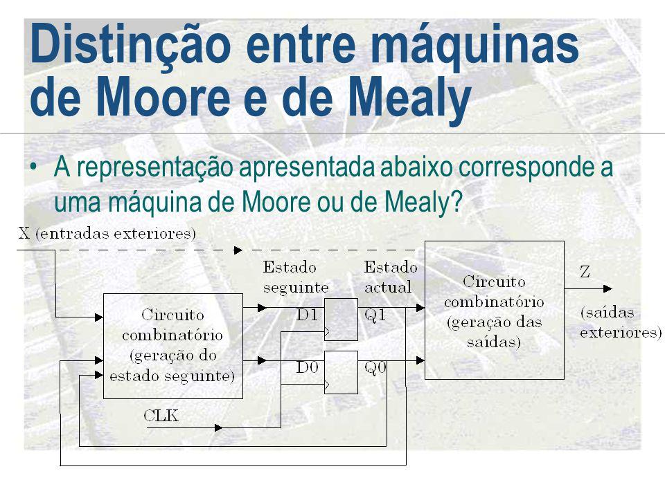 Distinção entre máquinas de Moore e de Mealy