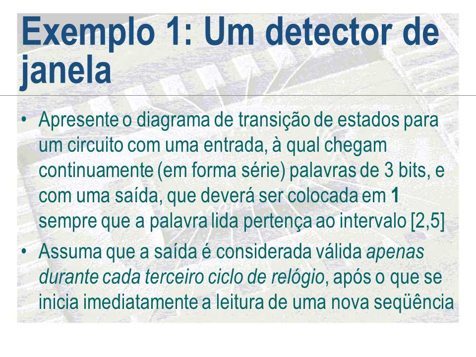 Exemplo 1: Um detector de janela