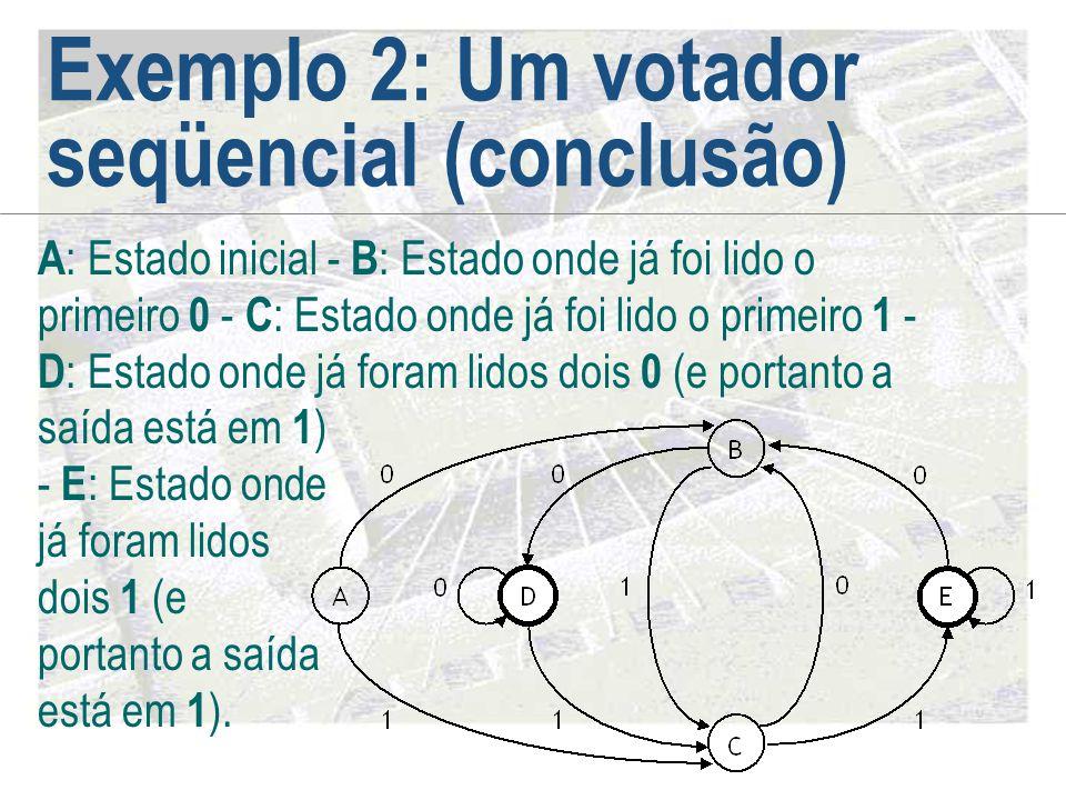 Exemplo 2: Um votador seqüencial (conclusão)
