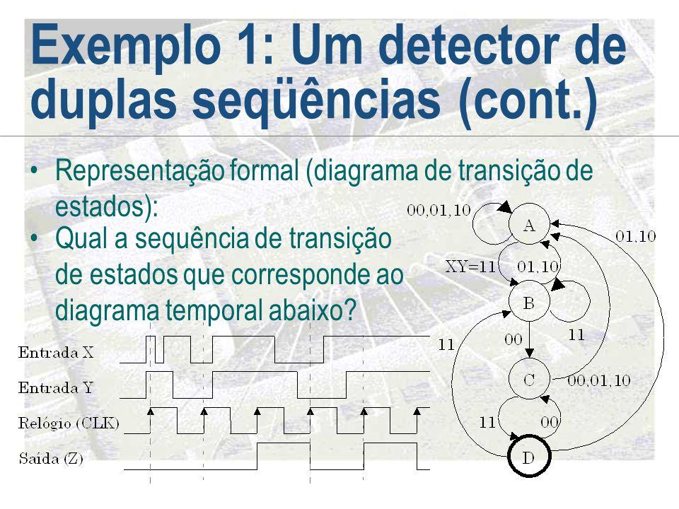 Exemplo 1: Um detector de duplas seqüências (cont.)