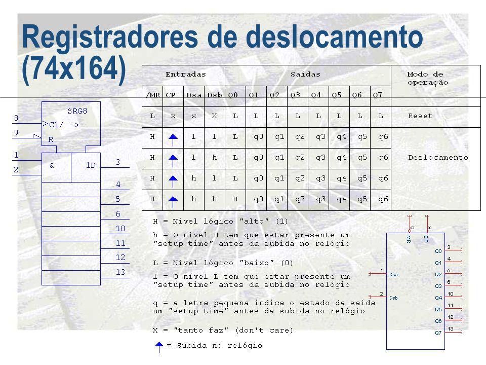 Registradores de deslocamento (74x164)