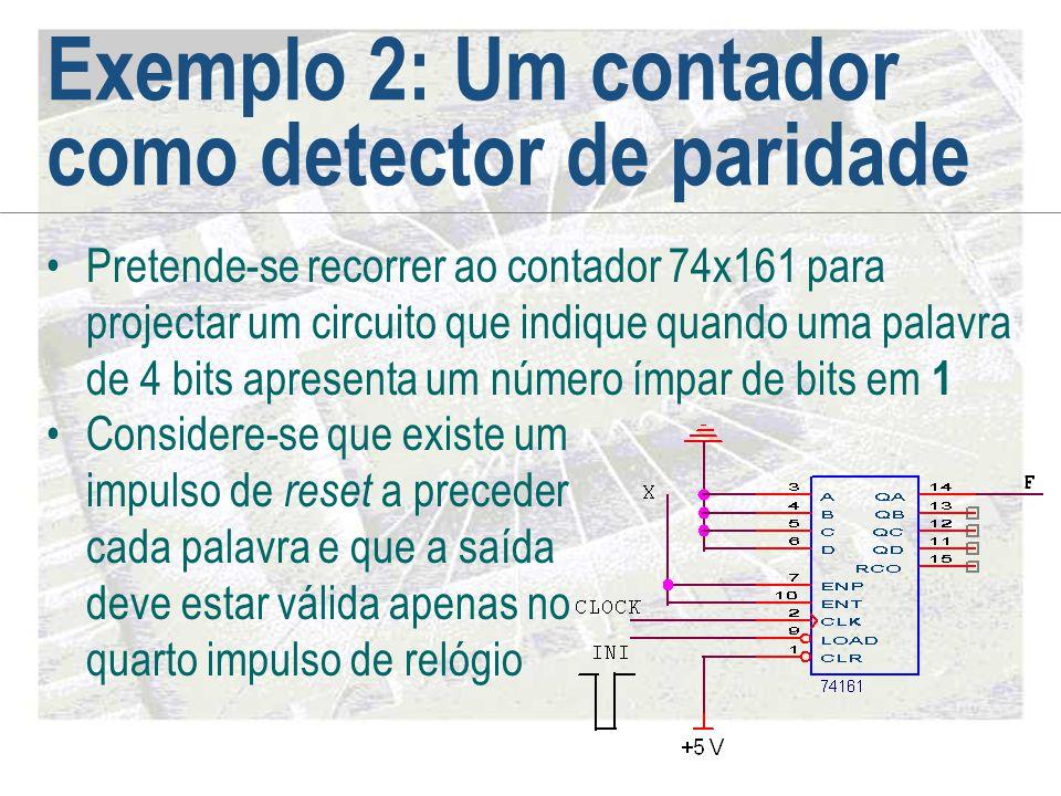 Exemplo 2: Um contador como detector de paridade