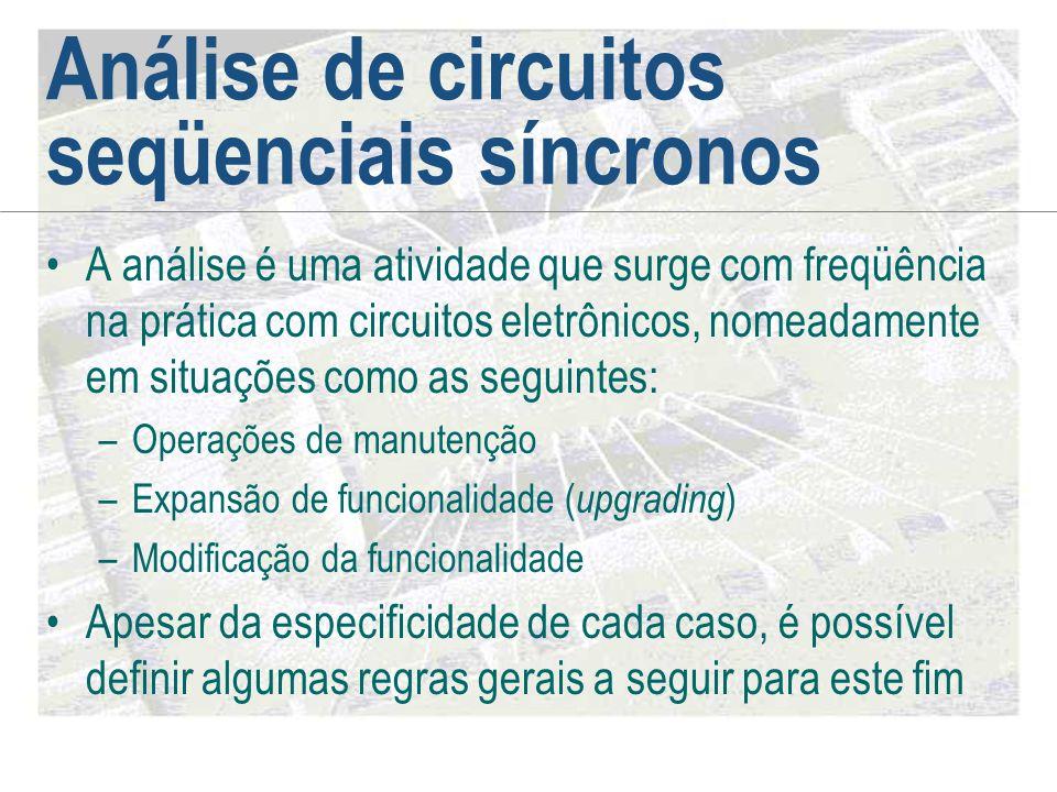 Análise de circuitos seqüenciais síncronos