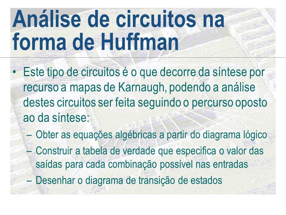 Análise de circuitos na forma de Huffman