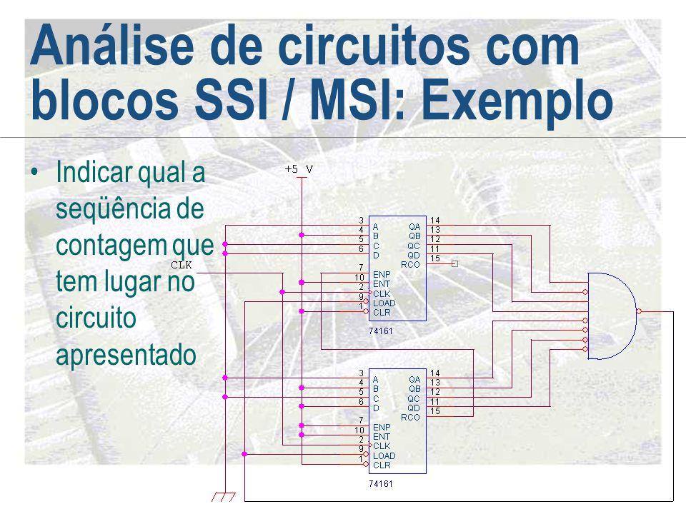 Análise de circuitos com blocos SSI / MSI: Exemplo