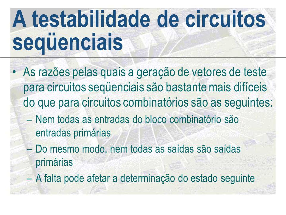A testabilidade de circuitos seqüenciais
