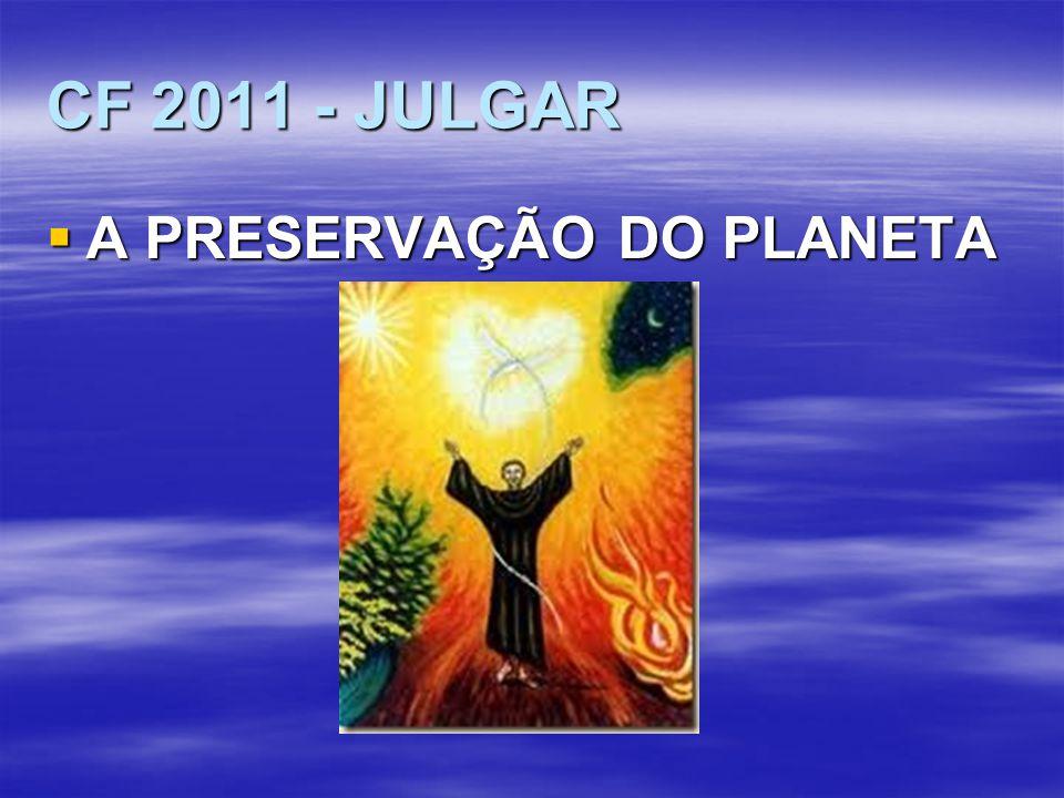 CF 2011 - JULGAR A PRESERVAÇÃO DO PLANETA