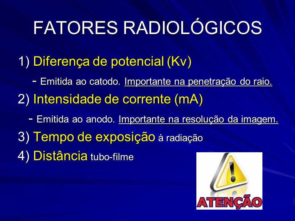 FATORES RADIOLÓGICOS 1) Diferença de potencial (Kv)