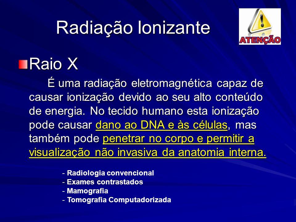 Radiação Ionizante Raio X