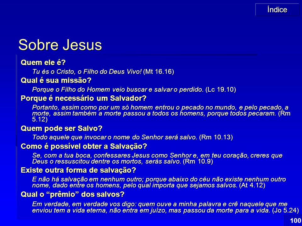Sobre Jesus Quem ele é Qual é sua missão