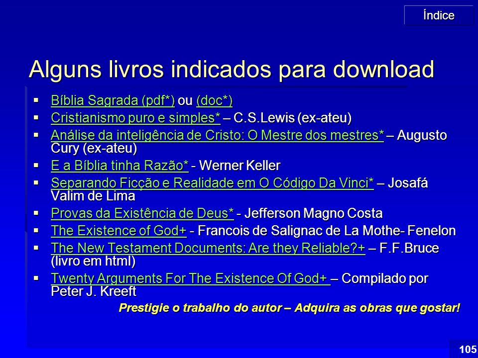 Alguns livros indicados para download