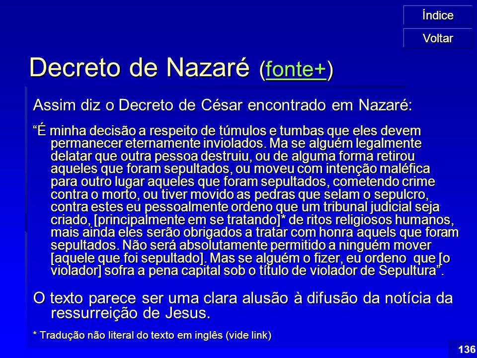 Decreto de Nazaré (fonte+)