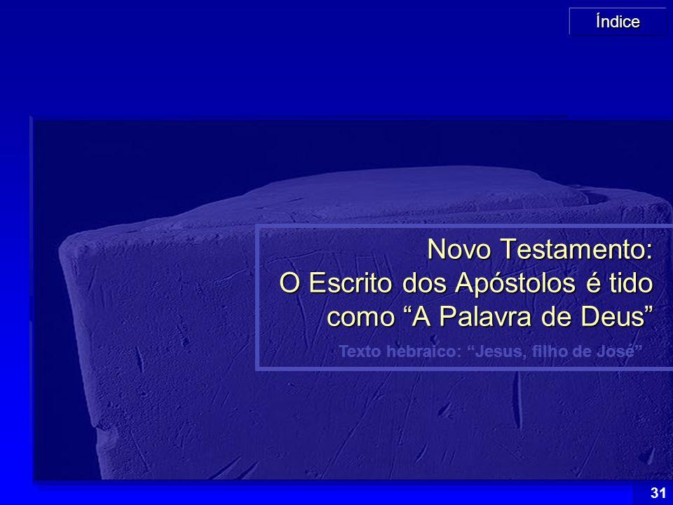 Texto hebraico: Jesus, filho de José