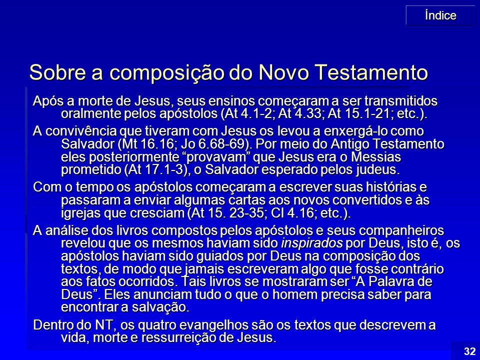 Sobre a composição do Novo Testamento