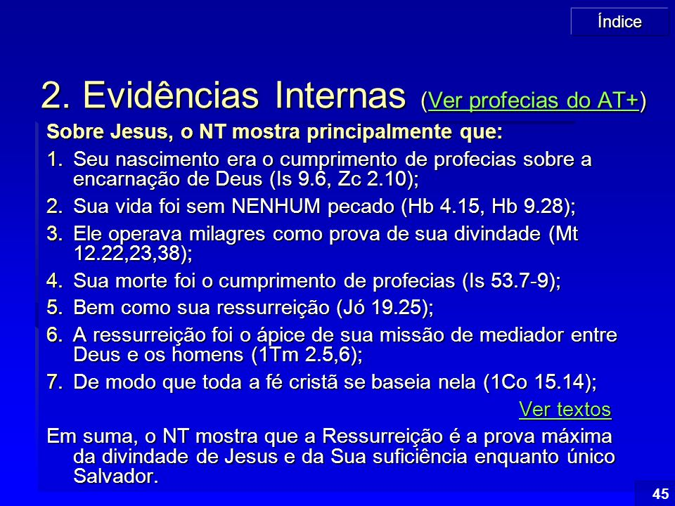 2. Evidências Internas (Ver profecias do AT+)