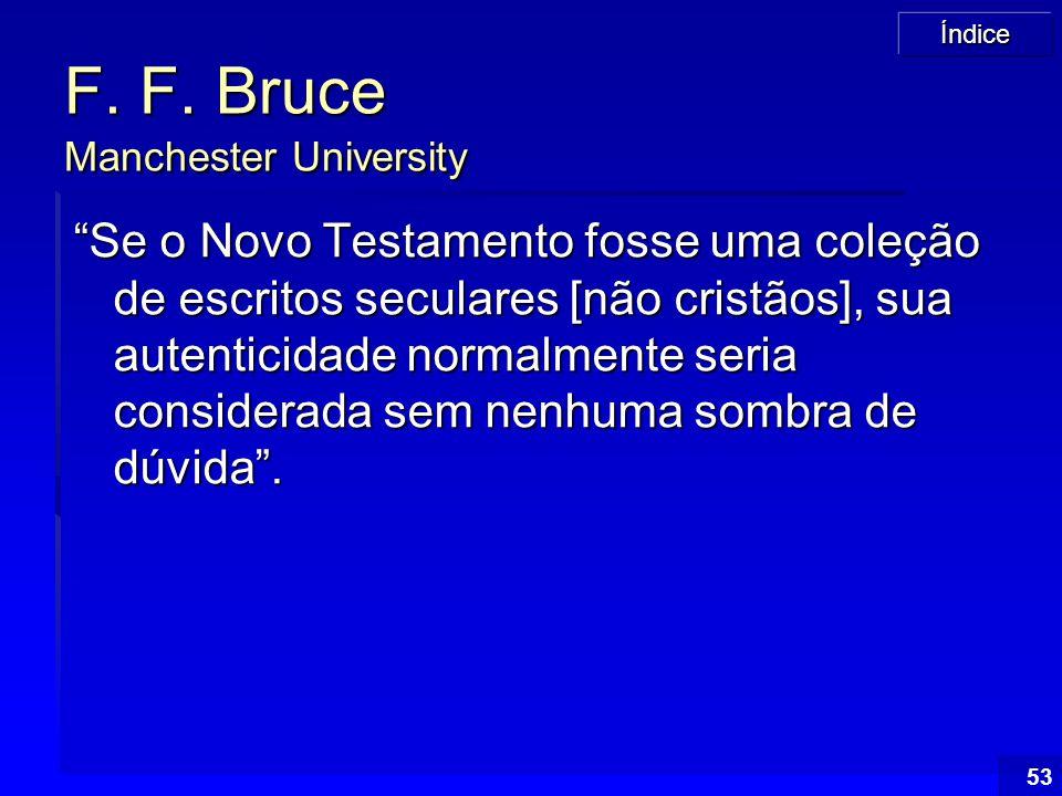 F. F. Bruce Manchester University