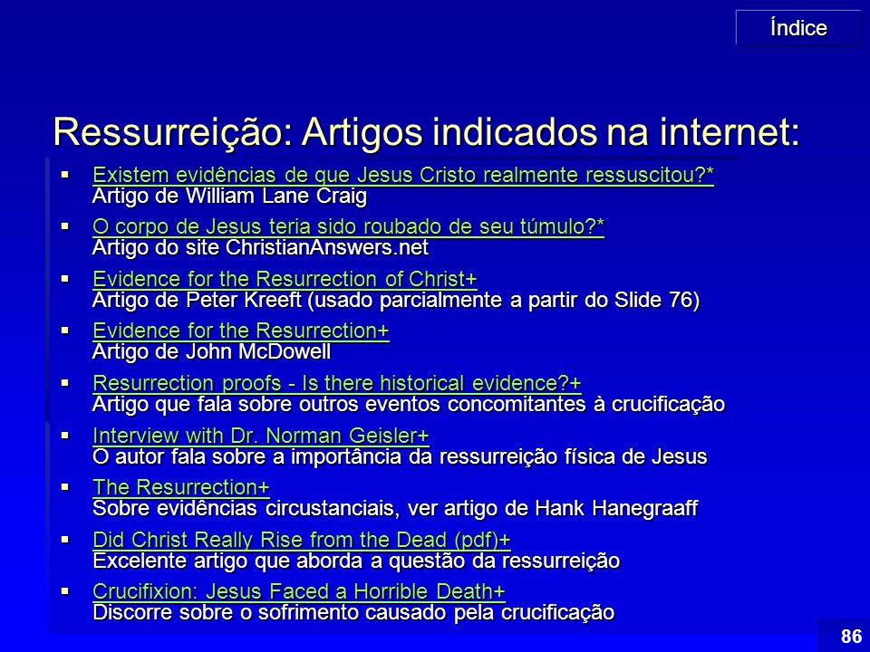 Ressurreição: Artigos indicados na internet: