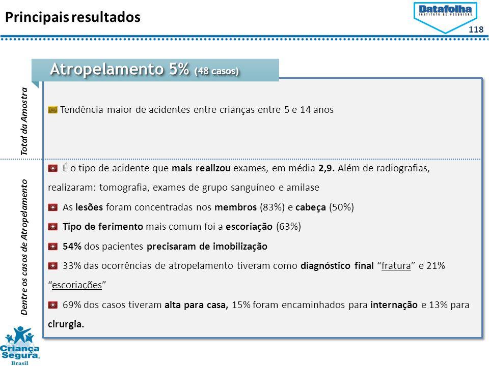 Atropelamento 5% (48 casos)