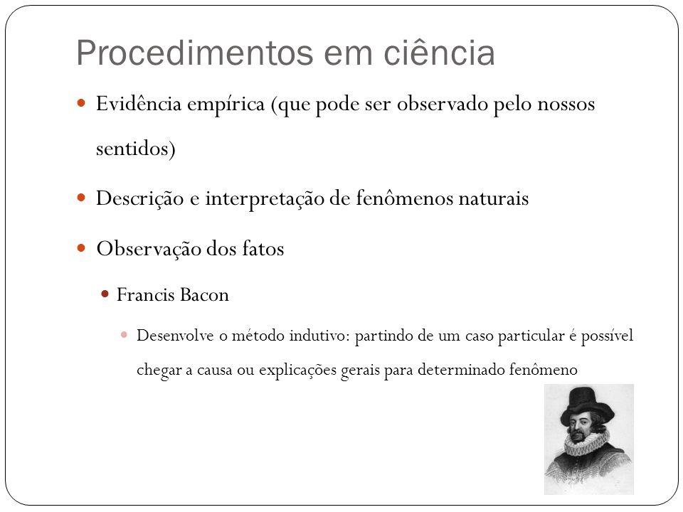 Procedimentos em ciência