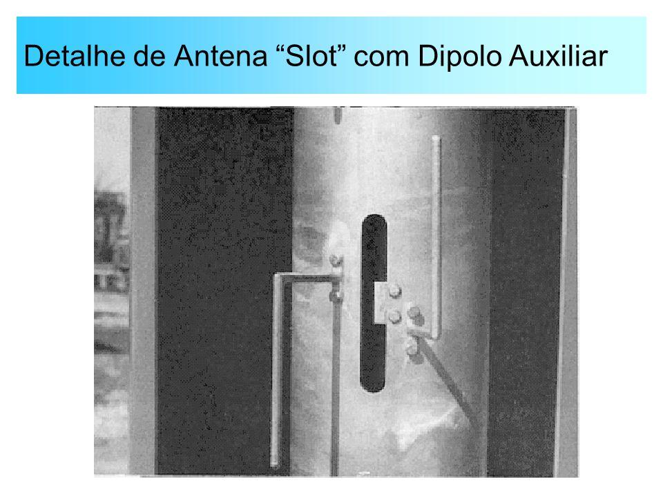 Detalhe de Antena Slot com Dipolo Auxiliar
