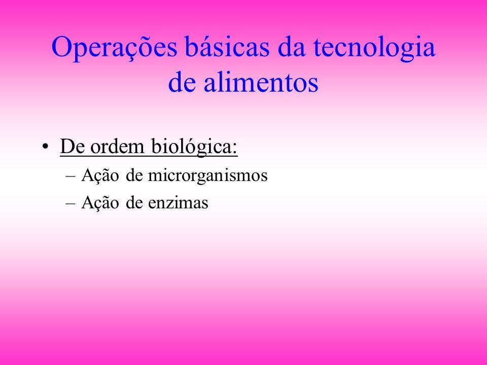 Operações básicas da tecnologia de alimentos
