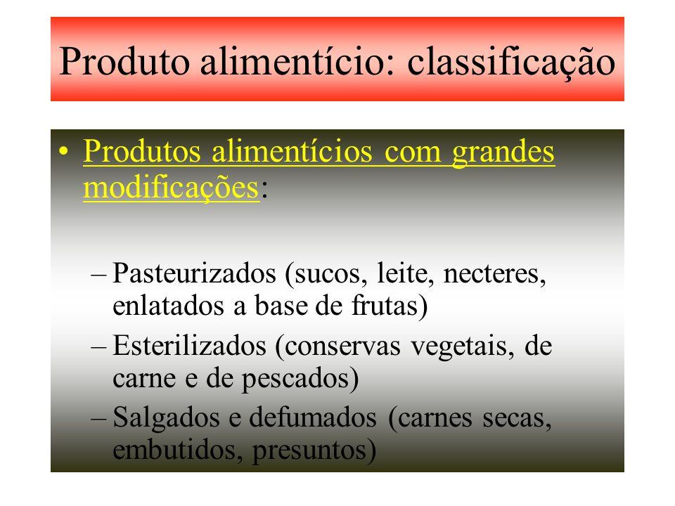 Produto alimentício: classificação