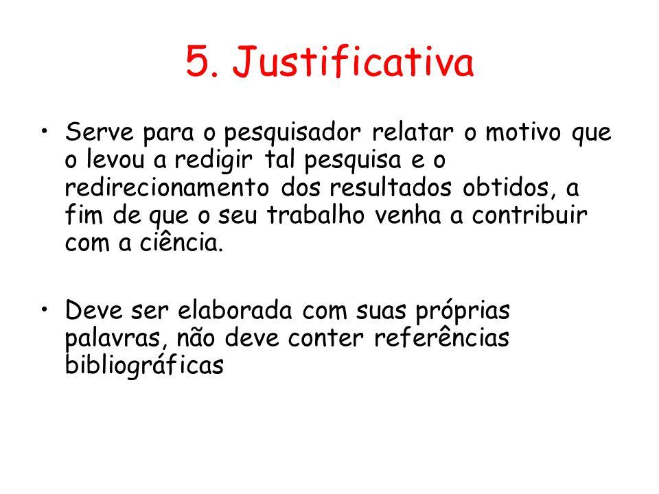 5. Justificativa