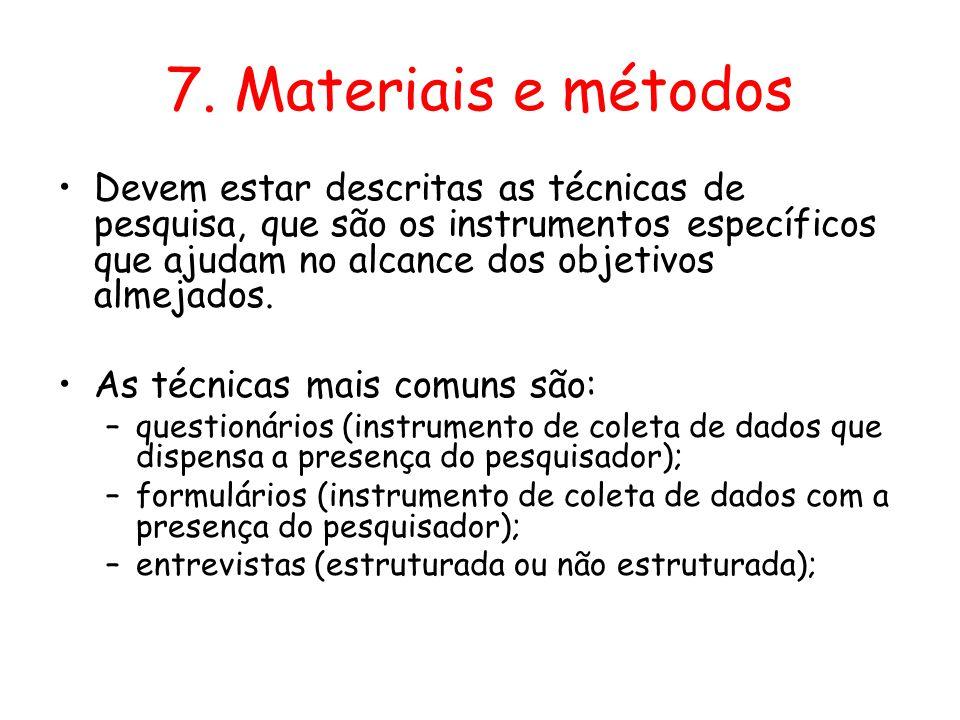 7. Materiais e métodos