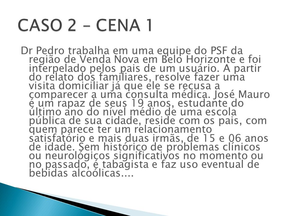 CASO 2 – CENA 1