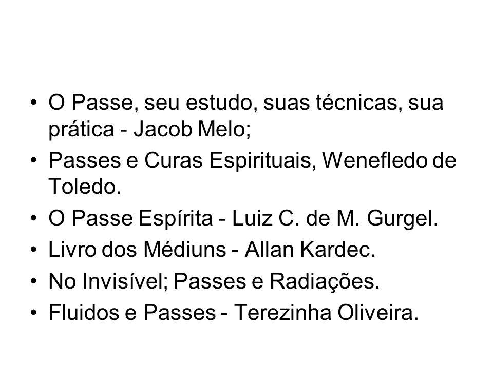 O Passe, seu estudo, suas técnicas, sua prática - Jacob Melo;