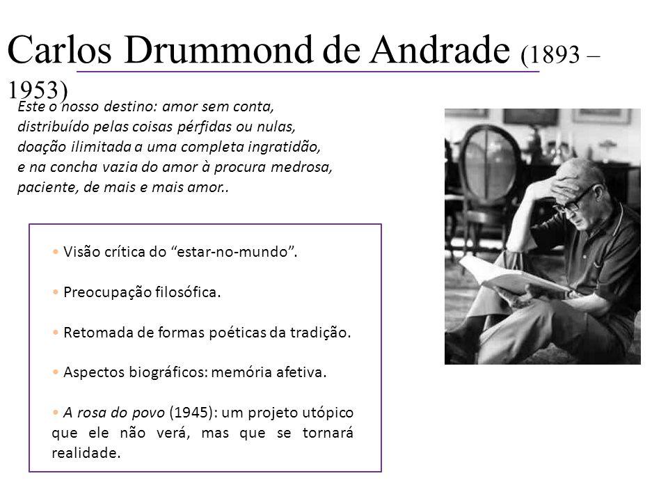 Carlos Drummond de Andrade (1893 – 1953)