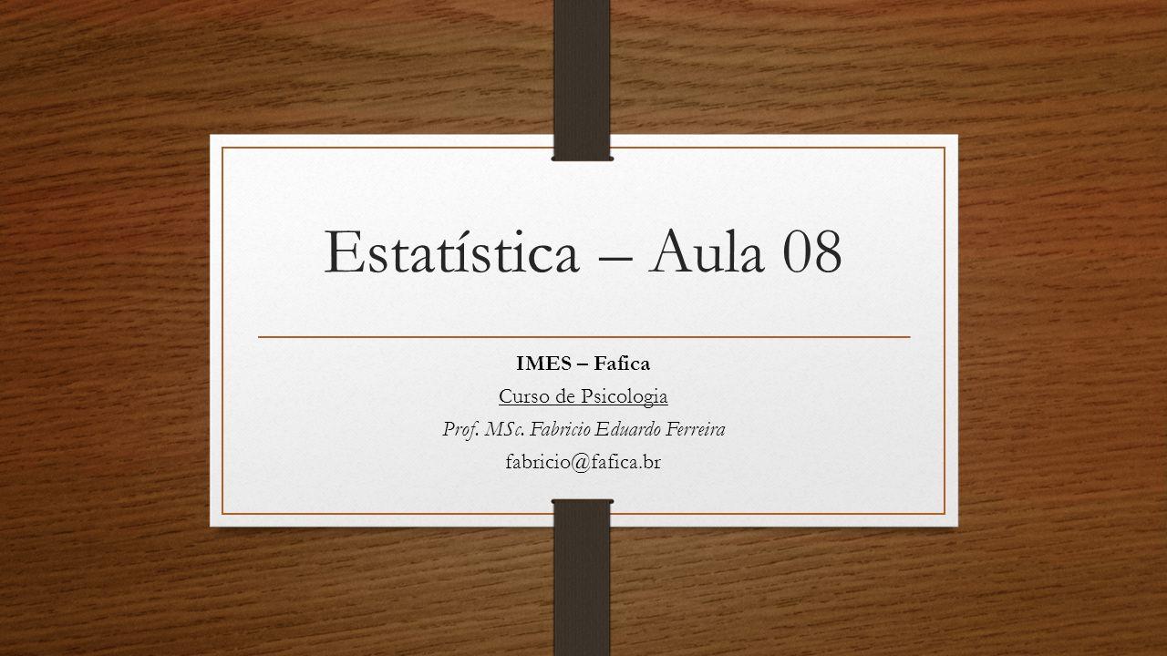 Prof. MSc. Fabricio Eduardo Ferreira