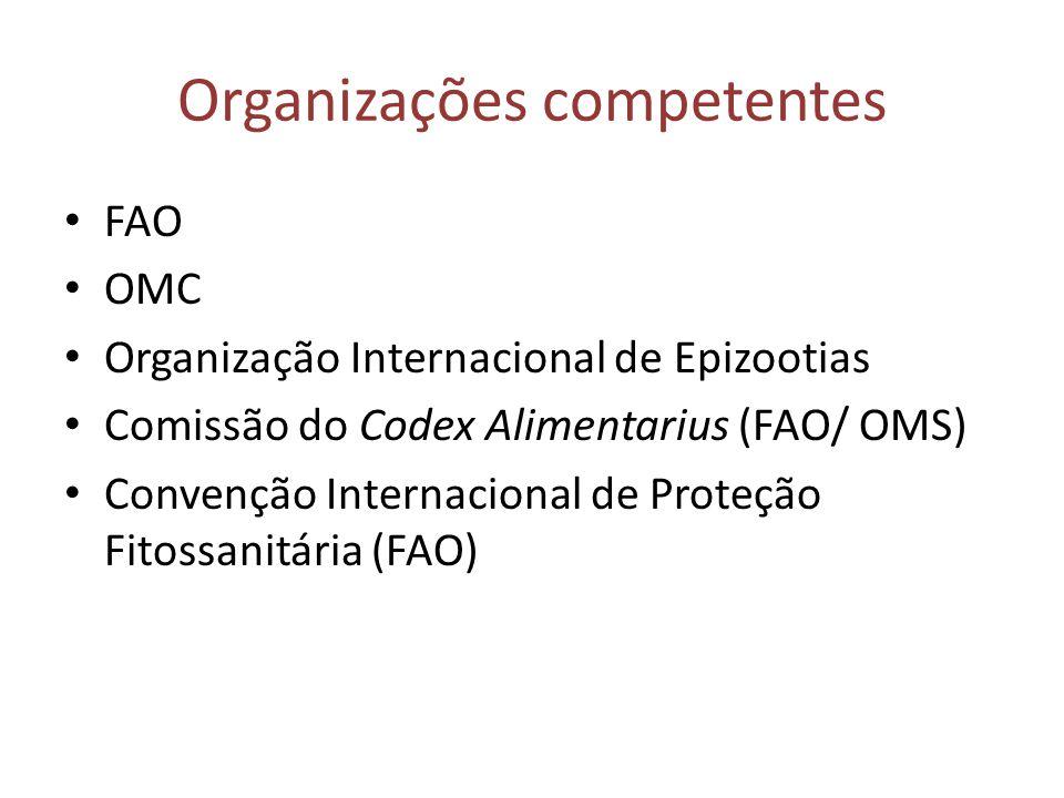 Organizações competentes